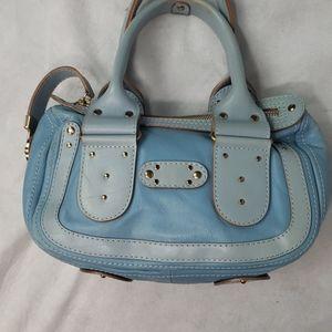 CHLOE blue on blue leather handbag